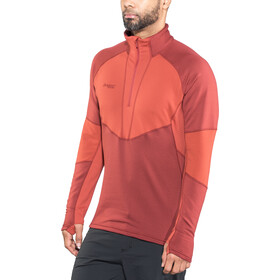 Bergans Roni Sweat-shirt en polaire avec demi-zip Homme, burgundy/red